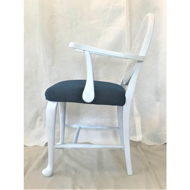 Mid-Century Caned Balloon Back Arm Chairs– a Pair For Sale - Image 6 of 7