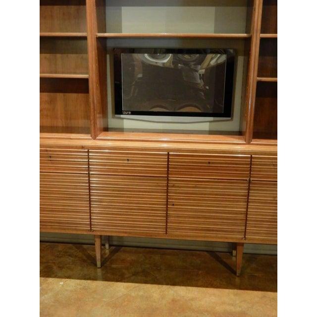 Walnut Italian Mid-Century Modern Walnut Bookcase Cabinet For Sale - Image 7 of 11