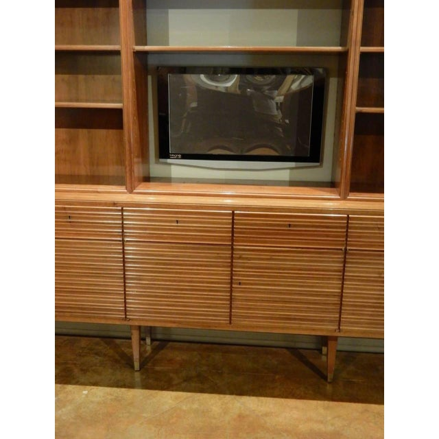 Wood Italian Mid-Century Modern Walnut Bookcase Cabinet by Paolo Buffa For Sale - Image 7 of 11