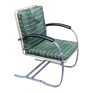 Howell Chrome Springer Chair For Sale