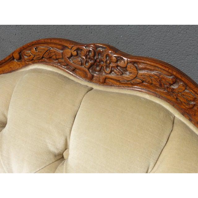 Pair of Bernhardt Tufted Wing Back Velvet Chairs - Image 8 of 11
