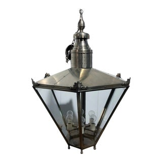 Ann Morris Groves Lantern in Oxidized Brushed Nickel Finish For Sale