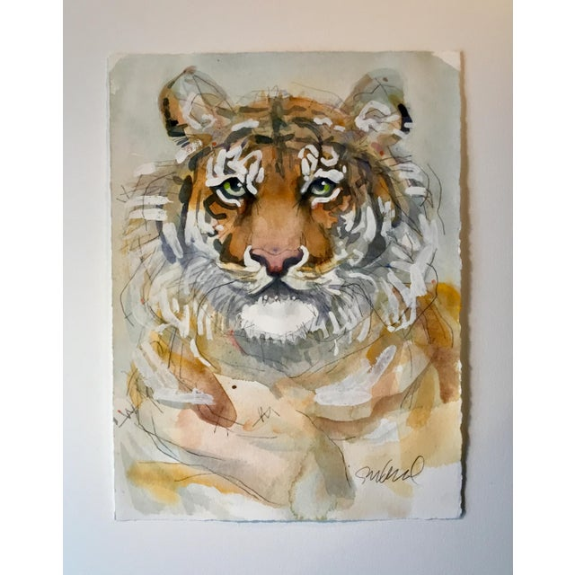 Original watercolor painting with White House paint on Arches 140lb. Cold press paper. Wildlife art.