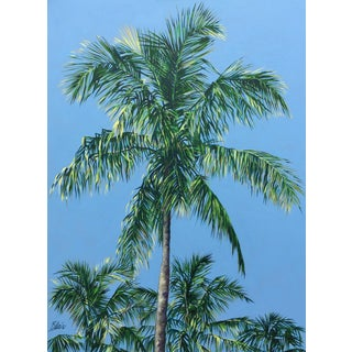 """Blair Contemporary Oil Painting """"Coconut Palms"""" For Sale"""