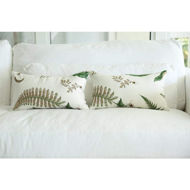 Contemporary Stensöta (Fern) Textile Lumbar Pillows - a Pair 10 X 18 For Sale - Image 3 of 6