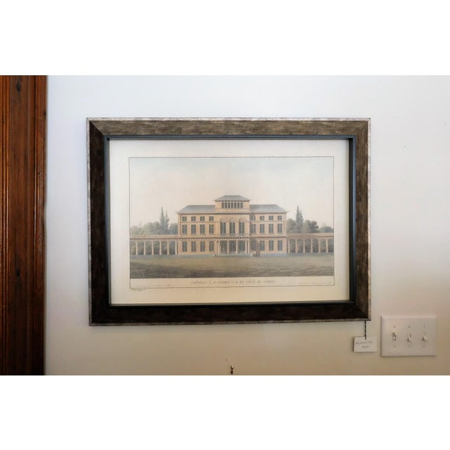 "Very light frame. Soothing muted colors. Image of ""Chateau a S'Andre, Vue du Cote Du Iardin"". New from Paragon Picture..."