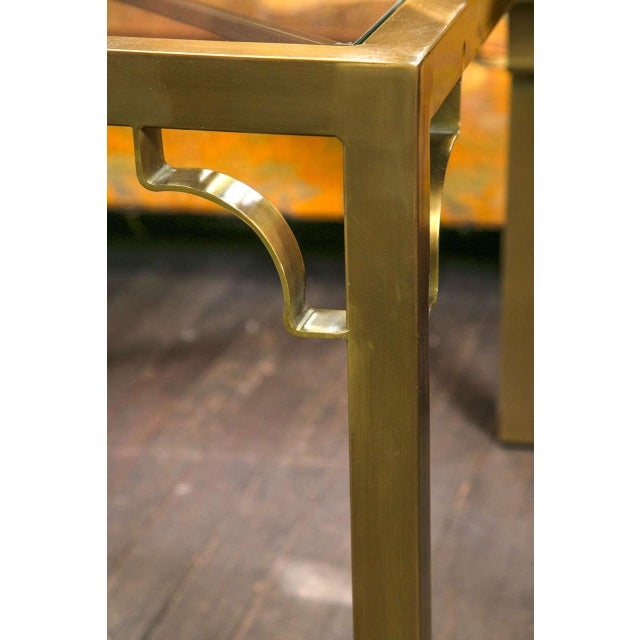 1960s Vintage Mastercraft Brass End Table For Sale - Image 14 of 19