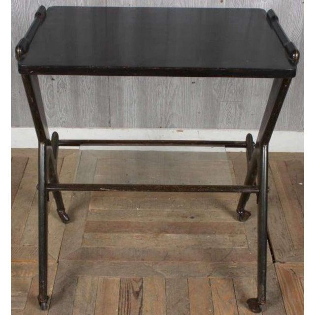 This is a vintage retro Italian mid century modern designer desk table by Ico Parisi. Beautiful ebonized or retro black...