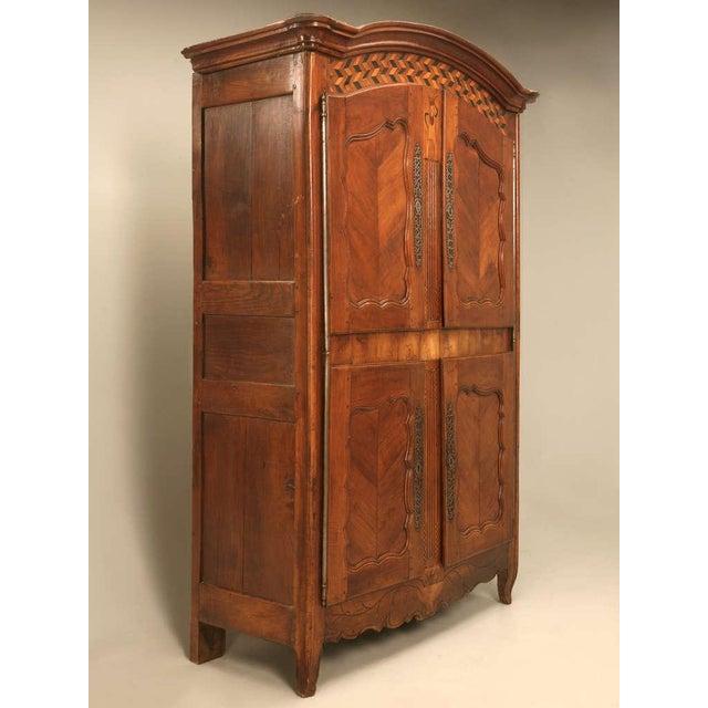 Antique french walnut armoire chairish - Armoire quatre portes ...