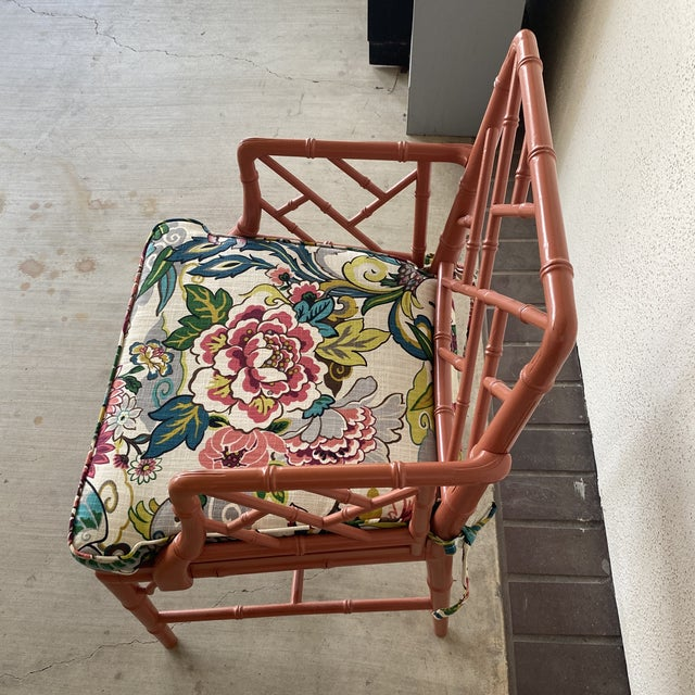 Vintage Chinoisere Chair For Sale - Image 4 of 8