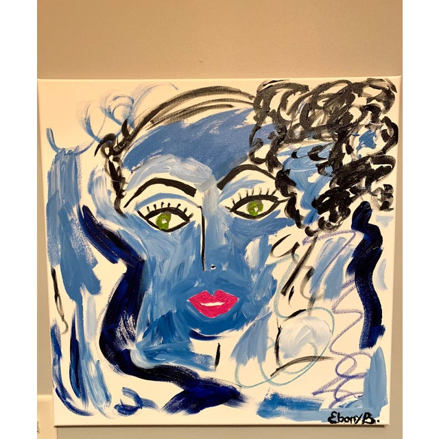 Contemporary Abstract Face Painting For Sale - Image 6 of 6