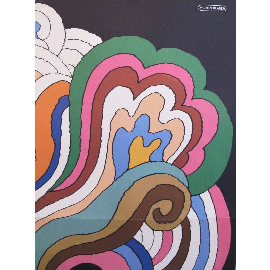 Date: 1966 Size: 22 x 32.5 inches Artist: Glaser, Milton A great poster of Bob Dylan by American artist Milton Glaser....
