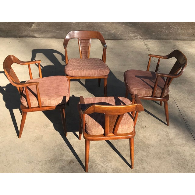 Tomlinson of High Point Mid Century Dining Chairs - Set of 4 For Sale - Image 11 of 13