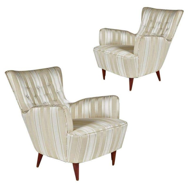 Sculptural Pair of 1950s Midcentury Italian Paolo Buffa Attr. Arm Lounge Chairs For Sale - Image 11 of 11
