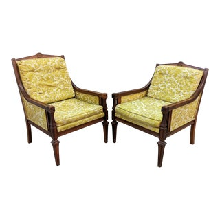 French Louis XVI Accent Chairs by Glabman Paramount - a Pair For Sale