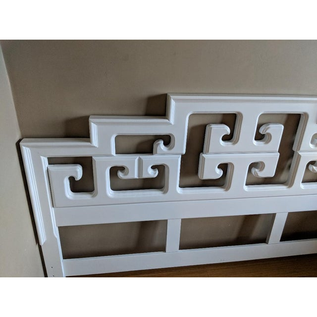Asian 20th Century Chinoiserie Century Furniture King Size Headboard For Sale - Image 3 of 5