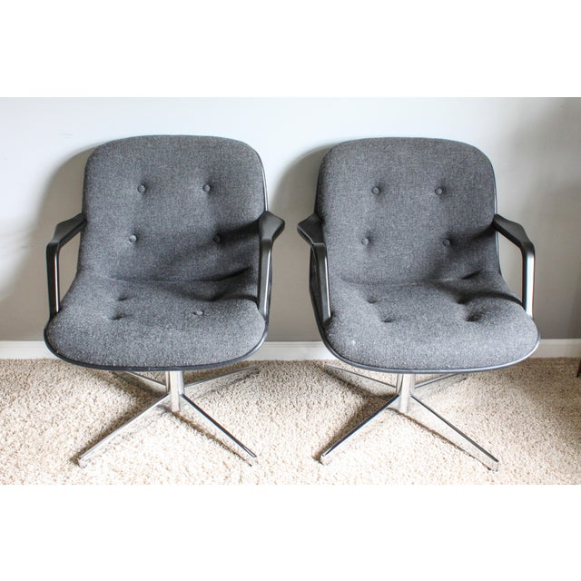 Selected for your consideration is this very interesting pair of swivel office chairs by United Chair. You may think...