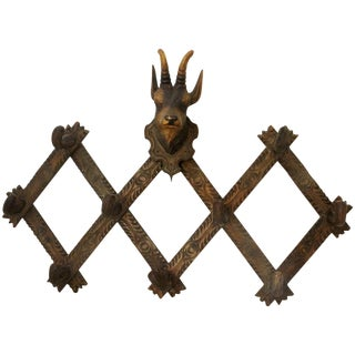 Late 19th Century Black Forest Mountain Goat Hat Rack