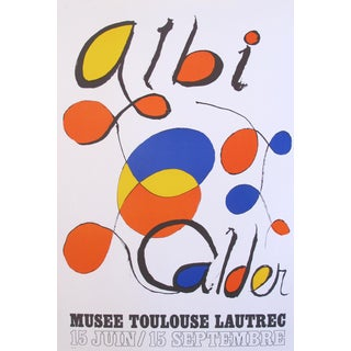 1971 French Calder Exhibition Poster, Musee Toulouse-Lautrec