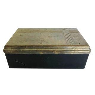 Art Deco Brass and Bakelite Trinket Box For Sale