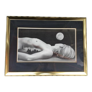 1970s Vintage Nude Woman Signed Print For Sale