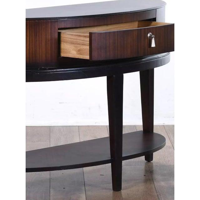 Art Deco Schnadig Tribeca Art Deco Macassar Wood Demilune Console Table For Sale - Image 3 of 4
