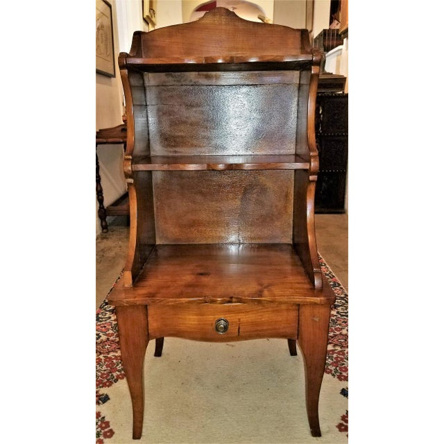 18th Century French Country Cherrywood Side Table or Open Case For Sale - Image 10 of 11