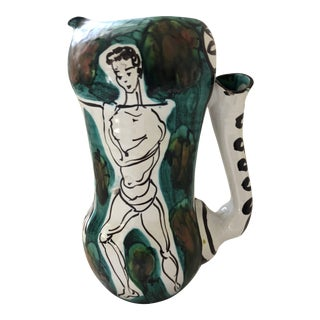 Picasso Style Mid-Century Pitcher For Sale