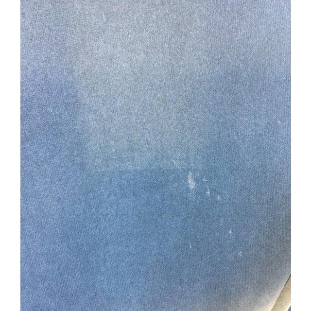 Blue Provence Velvet Arm Chair For Sale - Image 8 of 8