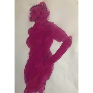Pink Abstract Female 1950s For Sale