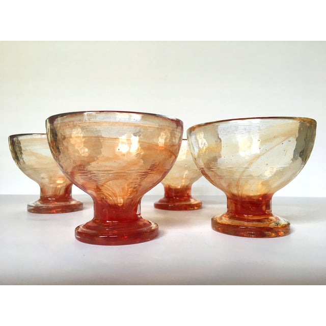 Art Glass Compote Dishes- Set of 4 - Image 2 of 5