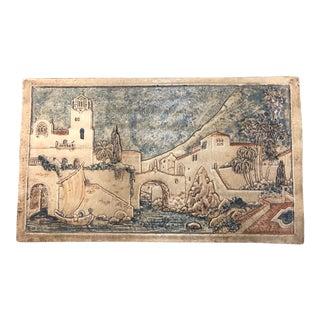 1930s Vintage Claycraft Tile Scene For Sale