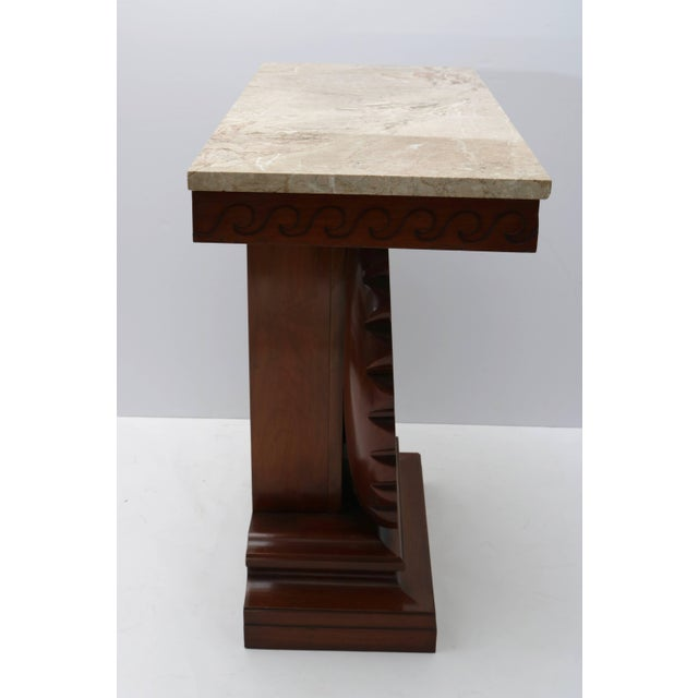 Wood Shell Motif Mahogany Console Table by Edward Wormley for Dunbar Furniture For Sale - Image 7 of 10