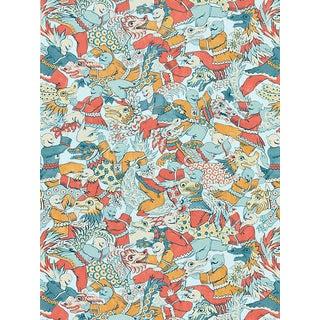 Sample, Scalamandre Dragon Dance, Multi Fabric For Sale