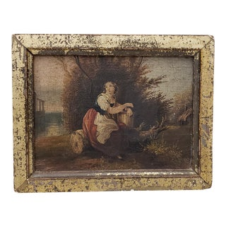 19th Century Miniature Italian Masterpiece Painting For Sale