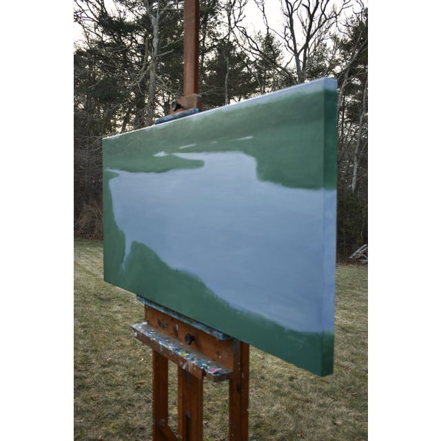 2010s Salt Water Inlet Landscape Painting For Sale - Image 5 of 9