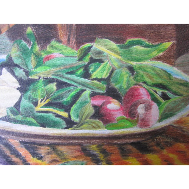Color Pencil Eastern Culture Realism Colored Pencil Painting For Sale - Image 7 of 11