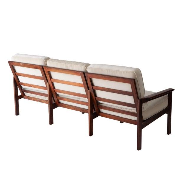 Finn Juhl 1970s Swedish Rosewood Sofa in the Style of Finn Juhl For Sale - Image 4 of 10