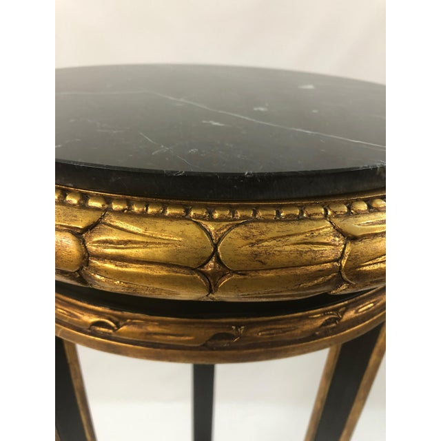 Regency Style Custom Black and Gold Stand For Sale In Philadelphia - Image 6 of 10