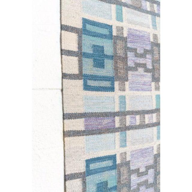 Mid 20th Century Scandinavian Modern Judith Johansson Tapestry Rug - 4'5'' X 6'8'' For Sale - Image 5 of 11