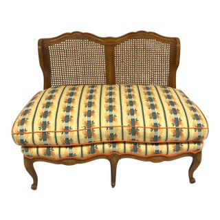 1960s Vintage Provencal Style Settee For Sale