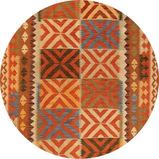 "Modern Geometric Kilim Rug, 5'1"" X 8'3"" For Sale"