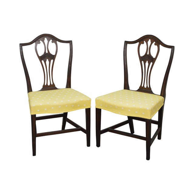Antique 19th Century Pair of Mahogany Hepplewhite Period Shield Side Chairs For Sale - Image 12 of 12