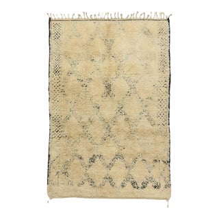Vintage Beni M'Guild Moroccan Rug With Mid-Century Modern Style, 06'00 X 08'10