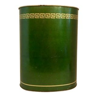 Green Tin Waste Basket
