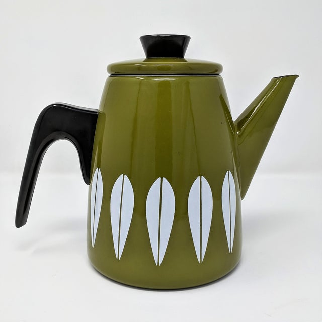 Cathrineholm Mid-Century Enamel Lotus Coffee Pot, Made in Norway For Sale - Image 10 of 10