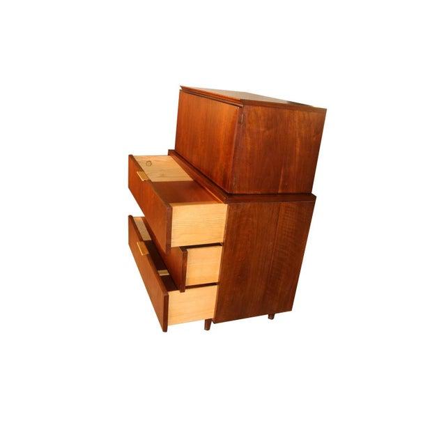 1960s John Stuart Mid Century Highboy Walnut Dresser For Sale - Image 5 of 13