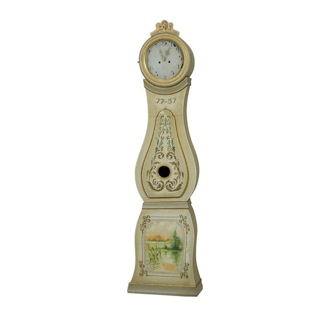 1751 Painted Mora Clock For Sale - Image 4 of 4