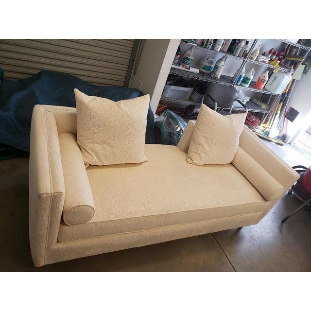 White Kravet Andante Plain Sofa For Sale - Image 8 of 10