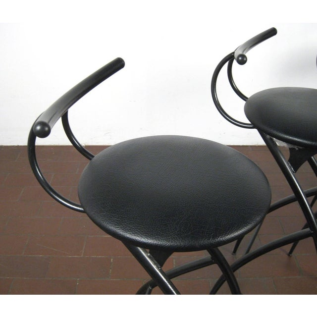 Postmodern Italian Bar Stools- Set of 5 For Sale - Image 4 of 10